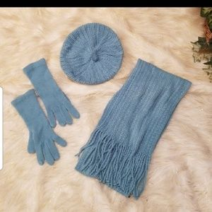 NWOT/Covington 3 Piece Set: Hat, Gloves, & Scarf